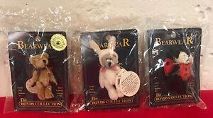 Lot 3 Boyds Bear Bearwear Hopley Bunny Teedle Ladybug & Tina Bear Pins NIB