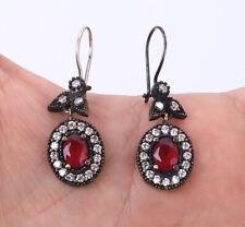 & Bronze Earrings #31386 Turkish Ruby .925 Silver