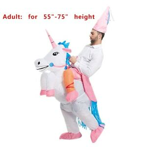 Adult' Unicorn Costume Inflatable Suit Halloween Cosplay Fantasy Costumes