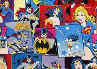 BATGIRL  WONDER WOMAN SUPER GIRL POWER FEMALE SUPERHERO CAMELOT FABRICS  YARDAGE