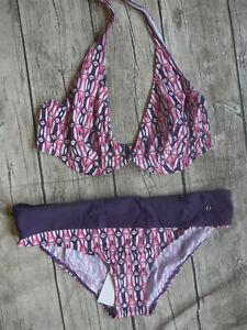 S.Oliver Bikini Swimwear Ladies Size 44 E Patterned Pink (203) New