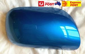 MIRROR COVER HOUSING CAP for TOYOTA YARIS NCP9# 10/05-10/11 Blue Metallic 8TO