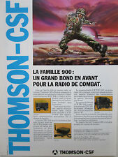 5/1987 PUB THOMSON-CSF TELECOMMUNICATION RADIO TRC 920 TRC 950 TRC 930 FRENCH AD