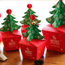 2019 Merry Christmas Tree Bell Party Paper Favour Gift Sweets Carrier Bags Boxes