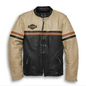 Men's High Quality Racing Leather Jacket Harley Davidson Riding Jacket