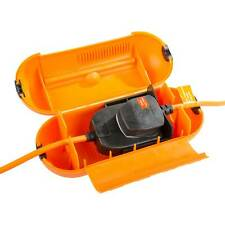 Masterplug Splashproof Extension Lead Plug Socket Protector Outdoor Power Garden