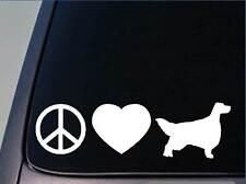 "Peace love Setter sticker *H113* 8"" vinyl english irish gordon"