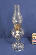 Vtg Antique EAPG Sandwich Glass Oil Lamp Kerosene w/ Star Design Excellent Cond.