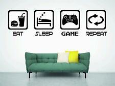 EAT SLEEP PLAY BOYS BEDROOM WALL ART GAMER XBOX GAMING WALL ART DECOR RETRO