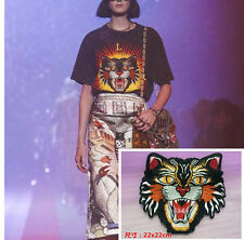 Patches Embroidery Large tiger cloth Applique accessory coat T-shirt Dress Jean