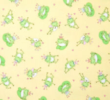 Timeless Treasures Patchwork Fabric Frog Prince  - Per 1/4 Metre