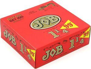 JOB Orange 1 1/4 Slow Burning Cigarette Rolling Papers 1.25 Box of 100 Booklets