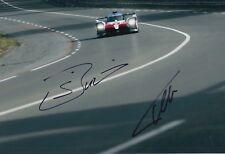 Sebastien Buemi and Fernando Alonso Hand Signed Toyota 12x8 Photo 2018 Le Mans.