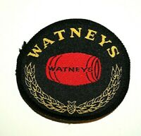 Vintage British Watneys Red Barrel Ale Beer Cloth Patch 1970's NOS New