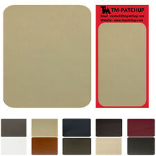 2 Pieces Medium Biege Leather and Vinyl repair patchsize 3''x6''-3 days shipping
