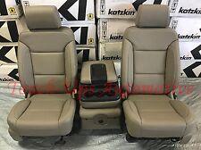 2014-2018 GMC Sierra SLE Crew Cab KATZKIN Cocoa Dune Leather Seat Covers Kit New