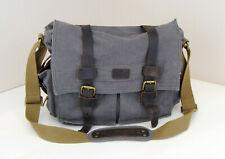 S-ZONE Vintage Canvas DSLR Camera Messenger Shoulder Bag for Canon Nikon Sony