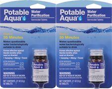 Potable Aqua Camping Water Purification Germicidal 100 Total Tablets