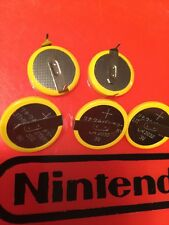 5x CR2032 Save Batteries N64 SNES NES Super Nintendo Sega Battery Lot Mario Five