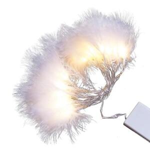 White Feather Fairy Lights USB /Battery Powered with Timer Bedroom String Lights