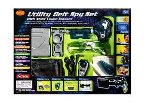 Utility Belt Spy Set with Night Vision Glasses Secret Agent Detective Kit