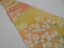 1A08z40 Japanese Kimono Silk  FABRIC Pink-Yellow Maple 55.9""