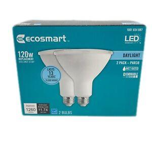 Ecosmart 120W Light LED PAR38 Dimmable Flood Bright White 2 Pack Bulb