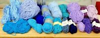Knitting Yarn-Lot 400g-Blues-Purples-Lilacs-Spinning-DK-Crafts-Crochet-6D