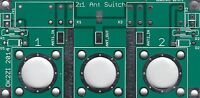 2:1 Kurzwellen Antenne Schalter Leiterplatte  N-Konnektor oder SO-239
