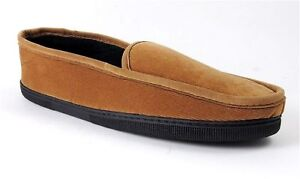 Iso By Isotoner Men's Corduroy Slippers Saddle Brown Us Size Large 9.5 - 10.5