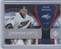 07-08 2007-08 UD TRILOGY OLAF KOLZIG HONORARY SWATCHES JERSEY CAPITALS