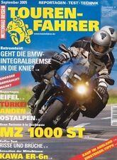 TF0509 + Test MZ 1000 ST + Fahrbericht KAWASAKI ER-6n + TOURENFAHRER 9/2005