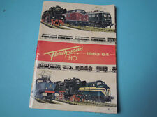 Catalogue Fleischmann HO 1963 1964 locomotives trains wagons  electric models