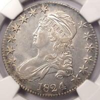 1824/4 Capped Bust Half Dollar 50C O-109 - NGC XF Details (EF) - Rare Coin