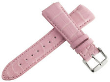 Techno Marine Womens 17mm Pink Crocodile Leather Watch Band Strap