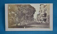 1860s CDV Photo Street Scene In Cairo Egypt