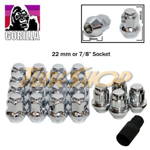 16+4 LOCK GORILLA LARGE SEAT FACTORY STOCK WHEELS LUG NUTS 9/16 ACORN RIM CHROME