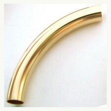 2pcs 14k Yellow Gold Filled Bracelet Elbow Curved moon arch Tube 5x38mm GS538