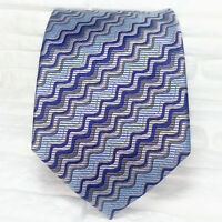 Cravatta blu azzurro grigio Made in Italy 100% seta handmade evento business