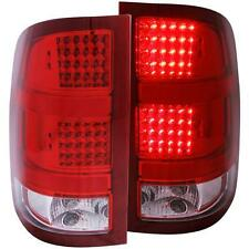 FITS 07.5-14 GMC SIERRA ANZO RED LED TAIL LIGHTS..