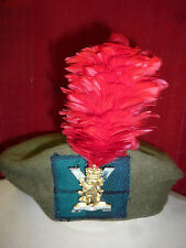 ROYAL REGIMENT OF SCOTLAND TAM OSHANTER WITH RED HACKLE AND BADGE APPROX 56CM