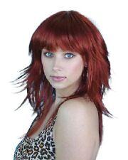 Long Auburn Spunky 70s 80s 90s Layered Flicked Retro Disco Quality Costume Wig