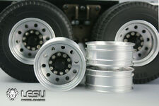 ALL TRACTOR TRAILER LESU ALUM DUALLIE REAR WHEEL RIM TAMIYA 1/14 W-2031 12mm hub