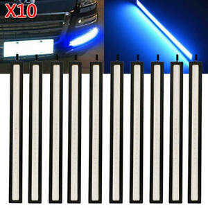 5Pairs LED Strip DRL Daytime Running Lights Fog COB Car Blue Lamp Day  itrg