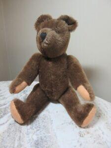 "Vintage 15"" Felpa Mutzli jointed teddy bear with tag. Switzerland"