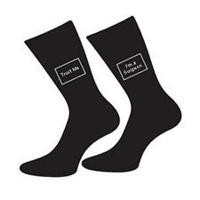 Mens 5-12 Black Cotton Socks Doctor Joke - Trust Me I'm A Surgeon