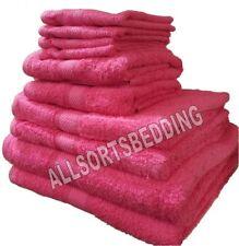 6 Piece Bale Set Hot Pink 100% Cotton Luxury Towels 2 Face 2 Hand 2 Bath