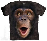 Happy Chimp Kids T-Shirt by The Mountain. Big Face Monkey Sizes S-XL Youth NEW