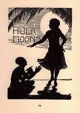 1938 Original Don Blanding Art Deco Vintage Print Hula Moons