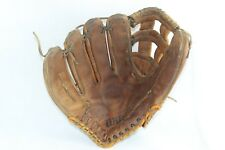 "Vintage Wilson A9812 12"" Lht Leather Softball Glove Mitt Left Hand Thrower"